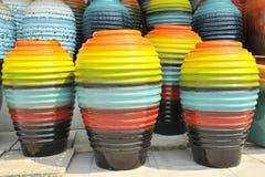 Barattolo in molti colourful Fotografia Stock