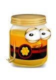 Barattolo triste del miele illustrazione di stock