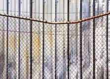 barb καλώδιο τοίχων φραγών Στοκ εικόνες με δικαίωμα ελεύθερης χρήσης