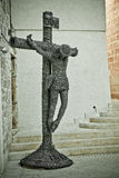 Barb σταύρωση του Ιησούς Χριστού καλωδίων Στοκ φωτογραφία με δικαίωμα ελεύθερης χρήσης