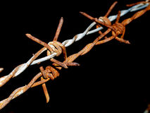 Barb wire 2. A photo of   barb wire Royalty Free Stock Photos