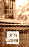 Barb Wire. Fence with Barb Wire Stock Photography