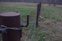 Barb Wire Fence immagine stock