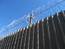 Barb wire fence Stock Photo