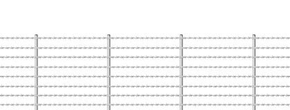 Barb Wire Fence Endless Stock Foto's