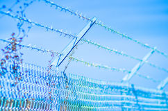 Barb wire fence Royalty Free Stock Photo