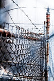 Barb Wire and Fence Royalty Free Stock Photo