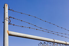 Barb Wire Fence Royalty Free Stock Image