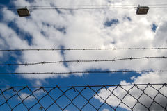 Barb Wire Fence Stock Image