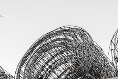 Barb wire. With grey sky Stock Images