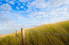 Barb Wire Iron Fence Dune Royalty Free Stock Photos
