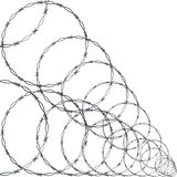 Barb Wire. On White Background Royalty Free Stock Images