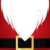 Barba branca de Santa Claus do Natal Camisa e correia vermelhas do feriado Fotografia de Stock