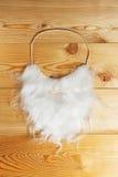 Barba branca em uma madeira Fotos de Stock Royalty Free
