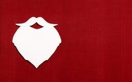 Barba de papel de Santa Claus Fotos de archivo libres de regalías