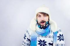 Barba del Año Nuevo Foto de archivo libre de regalías