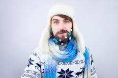 Barba del Año Nuevo Imagen de archivo libre de regalías