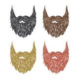 Barba dibujada mano Imagen de archivo libre de regalías