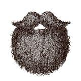 Barba e bigode pesados Imagem de Stock Royalty Free