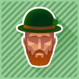 Barba encajonada cortocircuito Foto de archivo libre de regalías