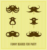 Barba engraçada Fotografia de Stock Royalty Free