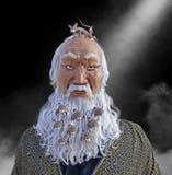 Barba engraçada aglomerada com ratos Fotografia de Stock Royalty Free
