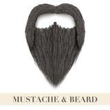 Barba preta realística com bigode encaracolado Fotos de Stock Royalty Free
