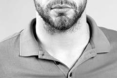 Barba, progettazione dei baffi nel salone del barbiere fotografie stock