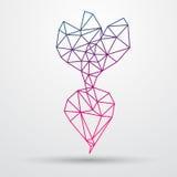 Barbabietola astratta di poligonal Progettazione geometrica del triangolo Linea illustrazione di Colorfuul di vettore Fotografia Stock Libera da Diritti