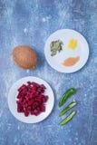 Barbabietola Cocunut Chili Spices fotografie stock