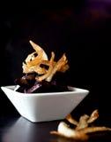 Barbabietola e patatine fritte Immagini Stock Libere da Diritti