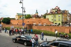 Barbacan y la pared de la ciudad Imagen de archivo