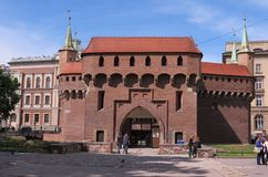 Barbacana de Kraków Fotos de archivo