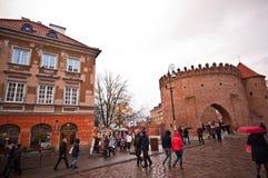 Barbacana de Varsovia Imagen de archivo libre de regalías