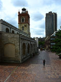 Barbacana e iglesia Foto de archivo libre de regalías