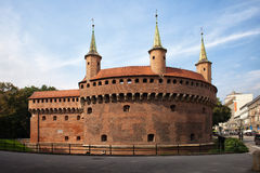 Barbacana en Kraków Imagen de archivo