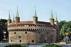 Barbacana en Kraków, Polonia Imagen de archivo