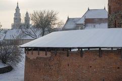 Barbacanbastion van de oude stad van Vilnius, Litouwen Royalty-vrije Stock Afbeelding