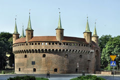 Barbacane a Cracovia, Polonia Immagine Stock