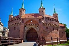Barbacane di Cracovia Immagine Stock