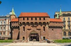Barbacane di Cracovia - Polonia Fotografia Stock Libera da Diritti