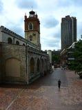 Barbacane en Kerk Royalty-vrije Stock Foto
