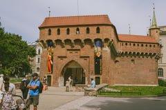 Barbacane in Krakau, Polen royalty-vrije stock foto's