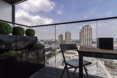 Barbacane van een balkon wordt gezien dat Stock Afbeelding