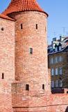 Barbacane a Varsavia. La Polonia Immagini Stock Libere da Diritti