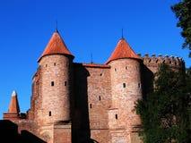 Barbacane - vecchia fortificazione a Varsavia Fotografia Stock