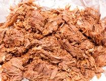 Barbacoa肉墨西哥样式煮沸的母牛肉 免版税库存照片