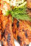 Barbacoa con la salsa y las verduras Imagenes de archivo