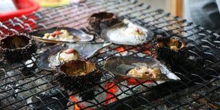 Barbacoa de los mariscos Foto de archivo libre de regalías