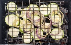 Barbacoa de verduras Fotografía de archivo libre de regalías